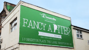 A billboard print for donatello