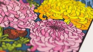 close up photo of a fine art print
