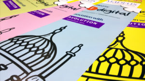 Colourful poster prints