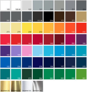 Vinyl colours that are available
