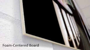 Example of foam centered board