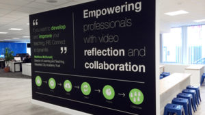 Vinyl cut wall graphics for a office