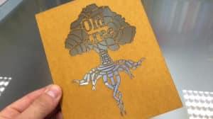 Laser cut card stencil