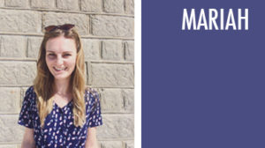 mariah studio manager blue and white dress long hair sunglasses
