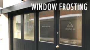 studio 10 window frosting black doors custom
