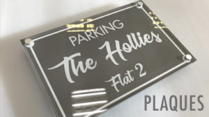 parking the hollies flat 2 plaque raised custom