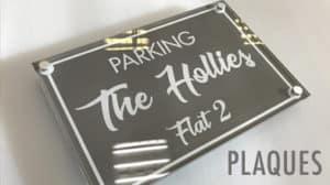 parking the hollies flat 2 plaque raised custom