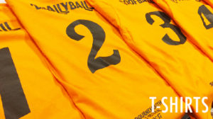 custom yellow football shirt 1 2 3 4 heat transfer