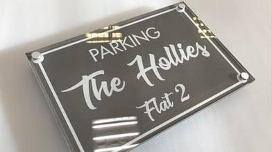 parking the hollies flat 2 raised perspex signage custom