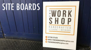 the workshop site board vinyl custom