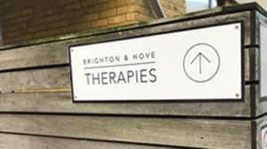 brighton & hove therapies raised perspex signage custom