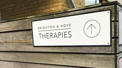 brighton & hove therapies raised perspex signage custom