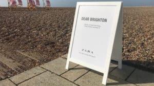 exhibit printing zara a board brighton pebble beach deckchairs