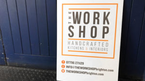 The workshop A board handcrafted kitchens & interiors information advertising