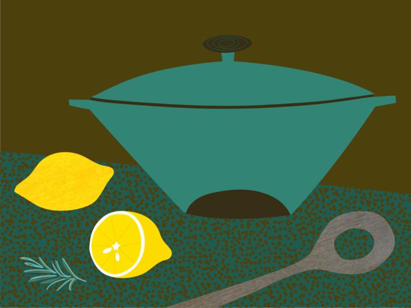 Teal Pot