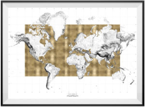 World Topographical Map by Will Atkins